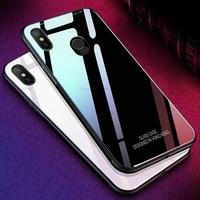 Funda de cristal para Xiaomi Mi 8 Lite Mi A1 A2 Lite 6X 6 Mi Max 3 Mix 2S, carcasa de lujo con marco de silicona de vidrio templado