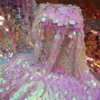 Эффективная симфония лазерный эллиптический большой дыни Блестки Кружева блестками градиент ткань выстрел задний план ткань