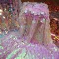 Efficient Symphony Laser Elliptical Large Melon Sequins Lace Sequined Gradient Fabric Shot Background Fabric