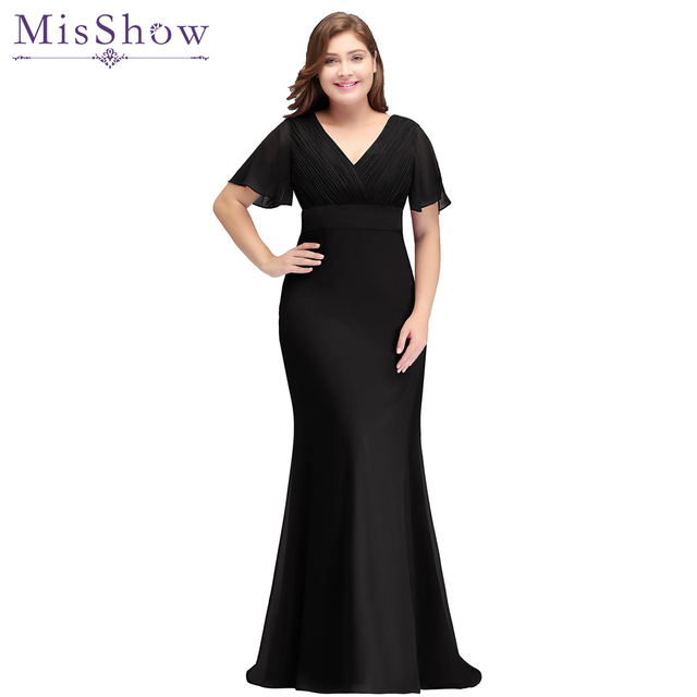 2019 Mother Of The Bride Dresses Plus size Batwing Sleeve Long ...