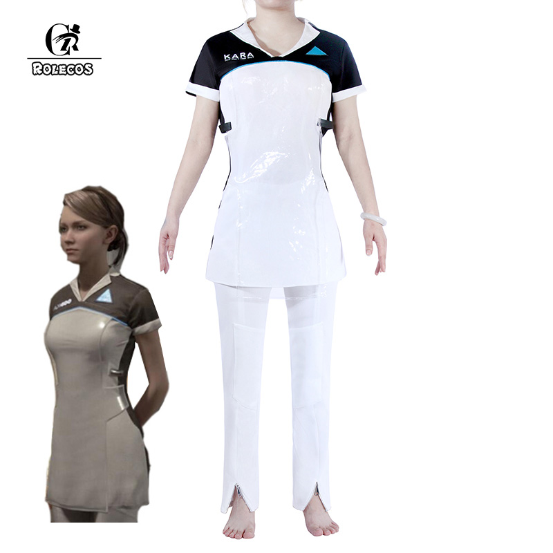 ROLECOS Game Detroit Become Human Cosplay Costumes Kara AX400 Cosplay Dress Pants Outfit Women Halloween Cosplay Uniform