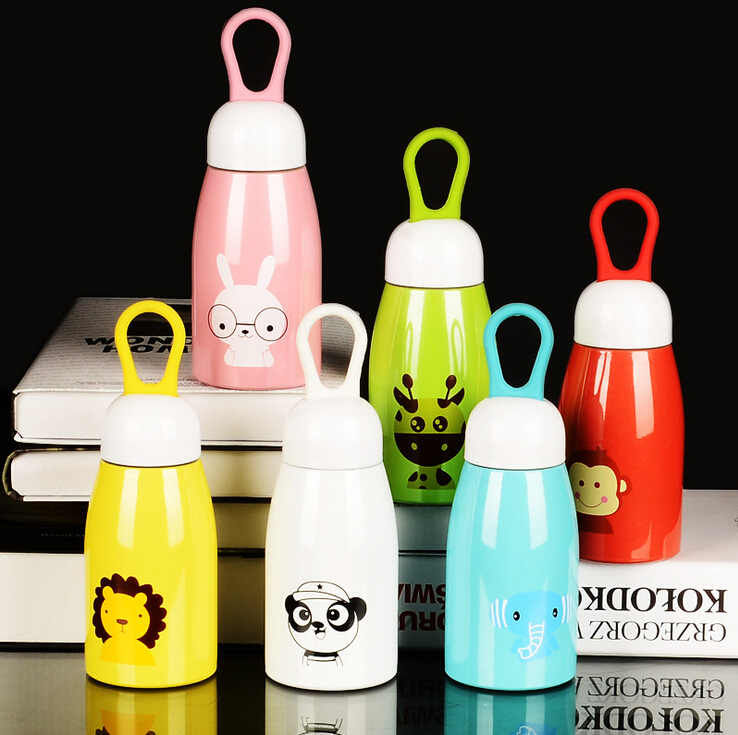 Christmas Gifts Childrens Belly Cup Stainless Steel Vacuum Insulation Cup Creative Super-Meng Animal Mugs Student Cup