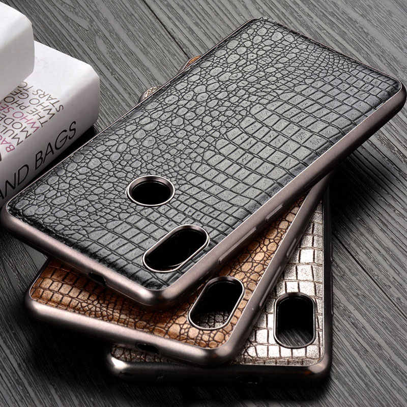 Case for Xiaomi Redmi Note 5 Pro funda luxury vintage crocodile retro leather capa soft cover for xiaomi redmi note 5 case coque