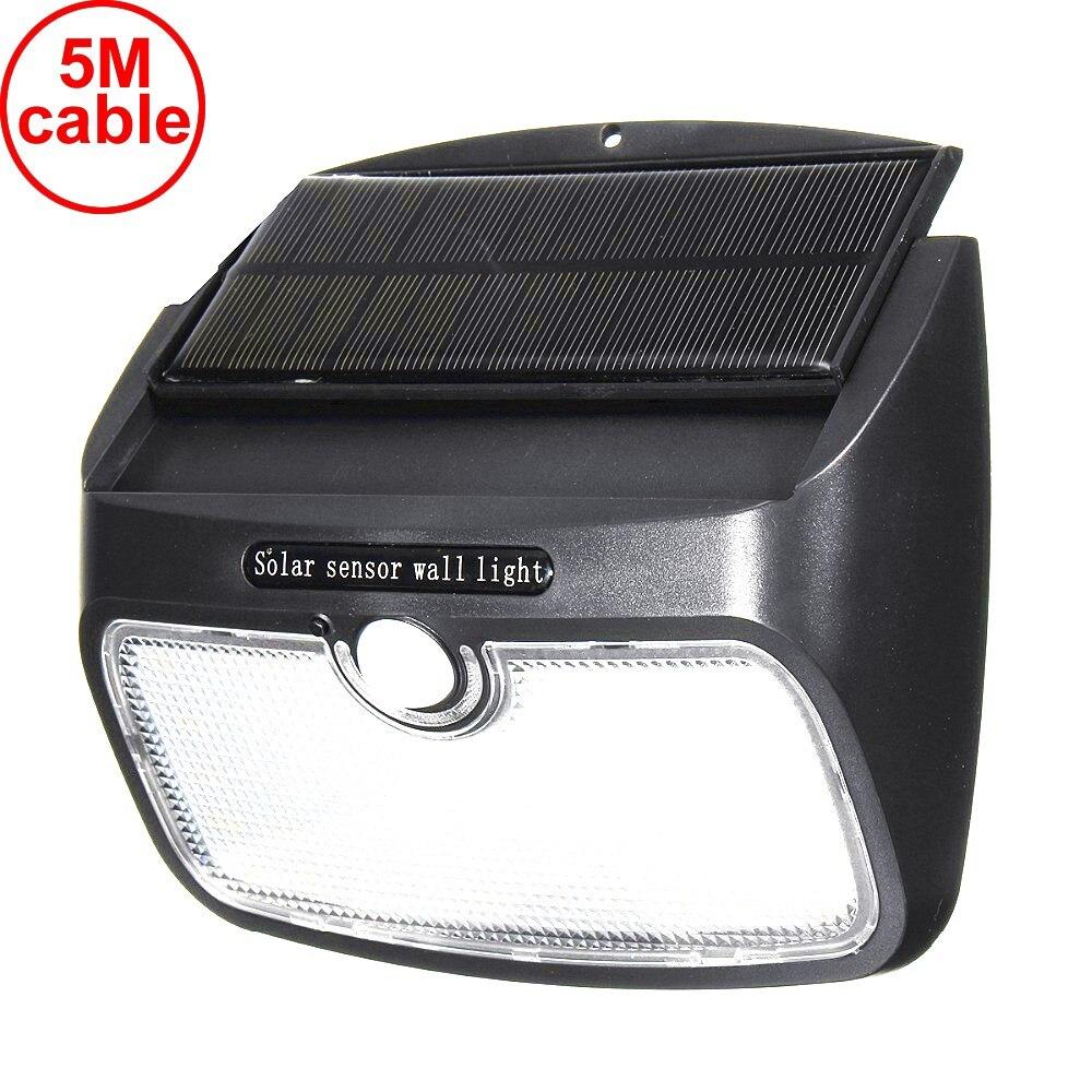 55/48 светодиодов съемный светильник на солнечной батарее светодиодные лампы полосы Настенный светильник водонепроницаемый радар движения для безопасности аварийный патио улица 5 м - 3