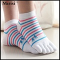 Multifuns mujeres calcetines del dedo del pie del tobillo de alta del dedo del pie calcetines de colores surtidos señora cinco 5 Calcetines Del Dedo Del Pie 5 dedos calcetines un par de pies cuidado
