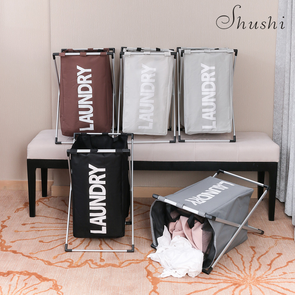 Купить с кэшбэком Shushi fashionable dirty clothes hamper Folding Thick Oxford one grid toy storage Basket home Bathroom laundry organizer bucket