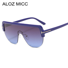 ALOZ MICC 2019 New Ladies Square Sunglasses Women Fashion One piece Lens Oversized Sun Glasses Men Female Shade Q297