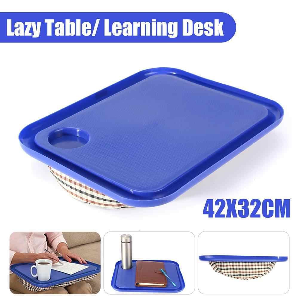Nhựa Ngoài Trời Di Động Tiện Dụng LAP TOP Khay Đựng Laptop Bàn Học Tập Ăn Sáng Để Bàn Lười Bàn Dành Cho Giường Xách Tay Chai