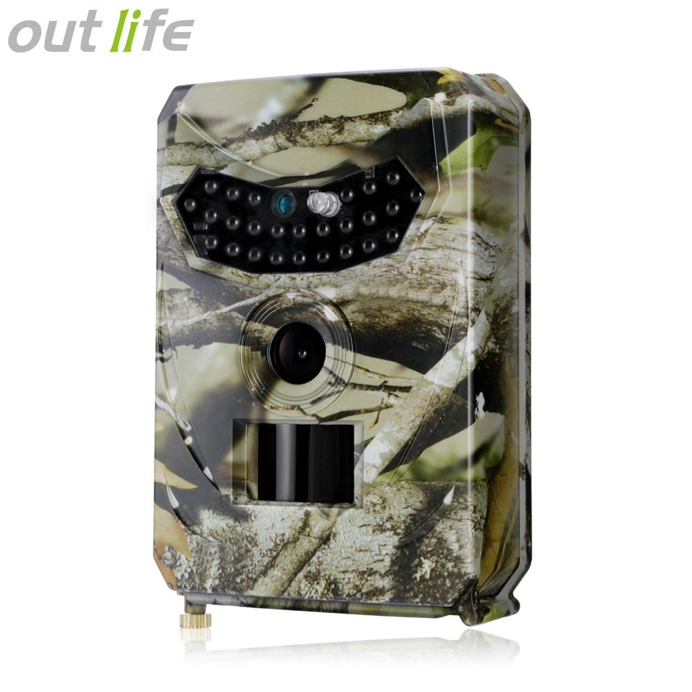 Outlife PR-100 Numérique de Vision Nocturne Caméra Piège Imperméable Procès Caméra 26 pcs LEDs Infrarouges 32 gb 120 Degré 12MP Sauvage caméra