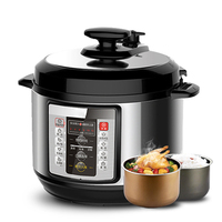 DMWD 5L Electric Pressure Cooker Intelligent Rice Cooker Stew Soup Porridge Cake Maker 12H Appointment Dual Container 220V