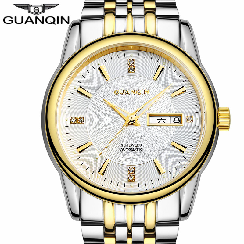 reloj hombre GUANQIN Watch Men Style Business Automatic Date Mens Watches Top Brand Luxury Mechanical Stainless Steel Wristwatch reloj hombre guanqin watch men style business automatic date mens watches top brand luxury mechanical stainless steel wristwatch