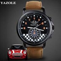 YAZOLE Wrist Watch Men 2017 Top Brand Luxury Famous Quartz Watch Male Clock Quartz Watch Relogio