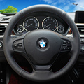 Steering Wheel Covers Case for BMW 320i 2013 316i Sewing Car Steering Covers Car-styling DIY Genuine Leather Cover