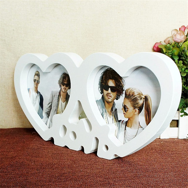 Online Shop Heart Shape Photoes Frame Love Couple Picture Frame ...