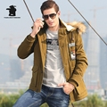 High Quality Brand Men's Casual Cotton Jacket New Fashion Thicken Winter Jacket Men Warm Hooded Coat Parkas Pull Home C16E15819