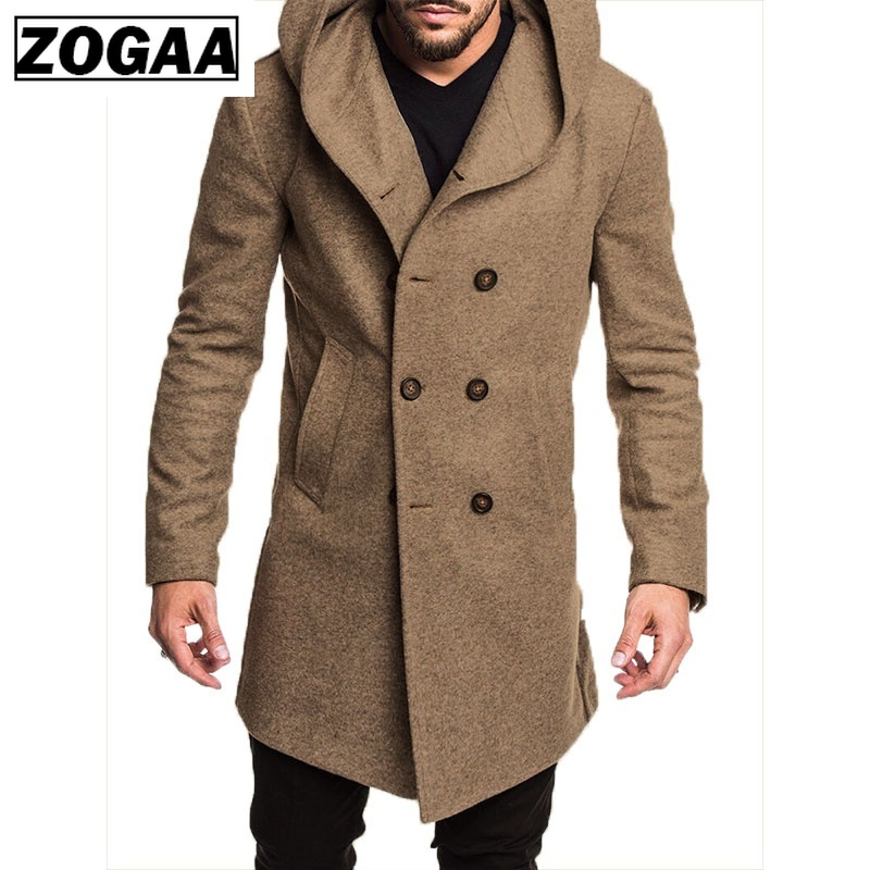 ZOGGA 2019 New Autumn And Winter Cotton Coat Jacket S-3XL Models Formal Casual Five Color Fashion Men's Long Men's Jacket