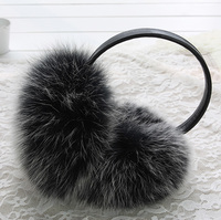 Winter New Fashion Women Real Fox Fur Earmuff Earcover Ear Warmer Woman Earmuffs