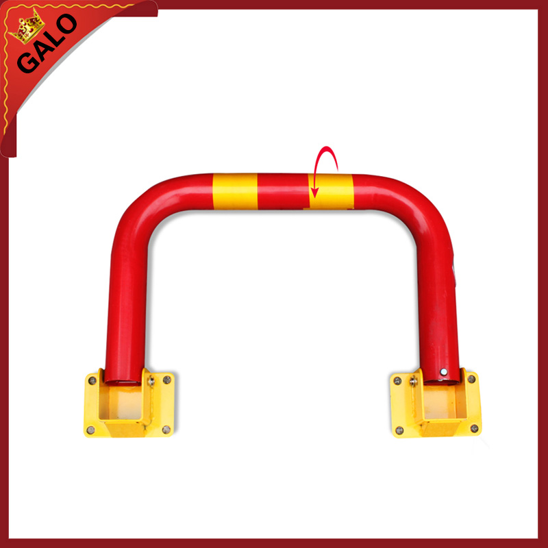 Half ring shape of the block machine parking barrier lockHalf ring shape of the block machine parking barrier lock