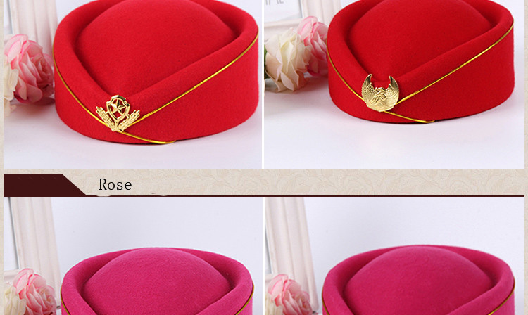 FS Professionals Ladies Elegant Wool Red Blue Black Top Felt Fedora ... 4f301fa7141a
