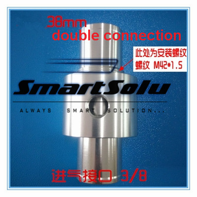 Free shipping Stainless steel Double connection 38mm pneumatic feeder