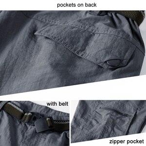 Image 3 - LOMAIYI Men Shorts Mens Cargo Shorts Army Green Mens Summer Travel Casual Shorts Military Style Loose Short Hombre AM369