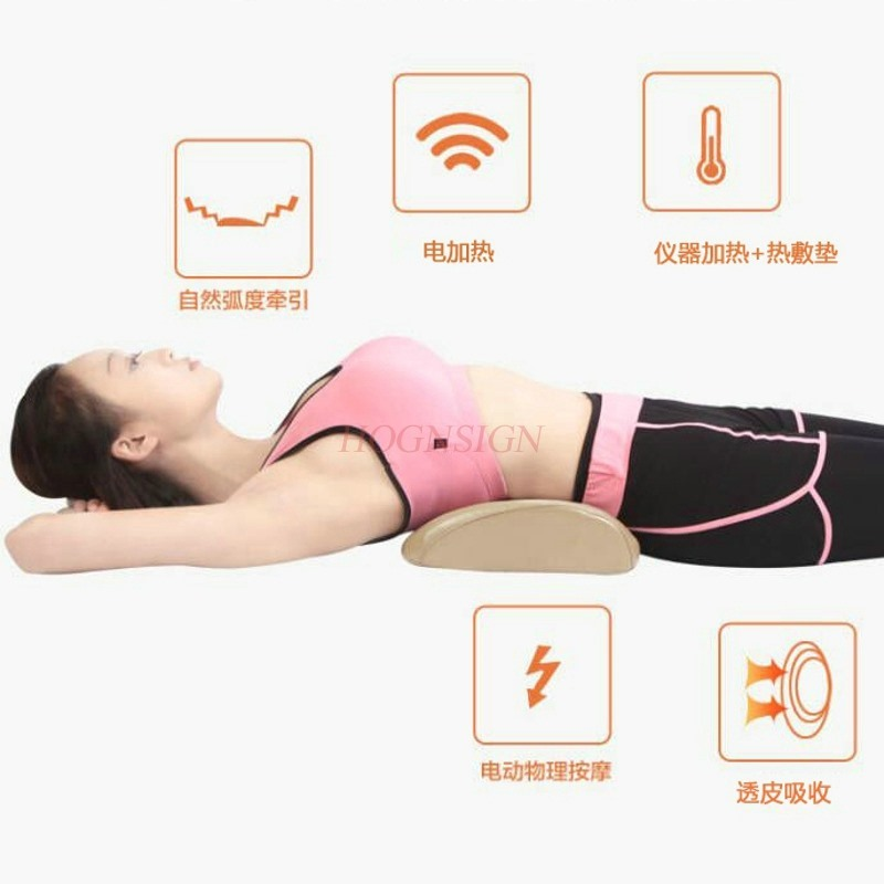 Home Waist Care Tool Lumbar Massage Physiology Curvature Straightening Orthosis Tractor Massager Cushion Pillow Bed Prominent цена