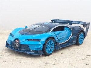 Image 5 - 1:32 스케일 Bugatti Veyron 합금 다이 캐스트 자동차 모델 장난감 전자 자동차 당겨 다시 빛 아이 장난감 선물 무료 배송