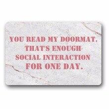 Entrance Floor Mat Non-slip Doormat You Read My Doormat Outdoor Indoor Rubber Mat Non-woven Fabric Top 15.7x23.6 Inch стоимость