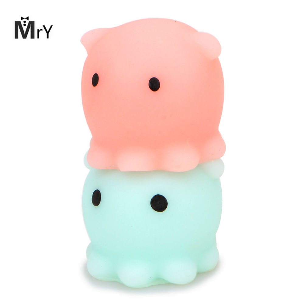 MrY Kawaii Hand Squeeze Toy Cute Mini Healing Mochi Stress Octopus Squishy Stretchy Anti-stress Phone Straps  Toys For Children