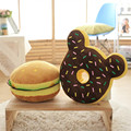 2017 New Food Plush Pillow Simulation Hamburger Donuts Cushion Home Sofa Decorative Soft Toy Kids Toy Funny Gift For Children