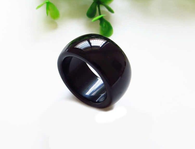 สีดำธรรมชาติหยกแหวนผู้ชาย ar10 #
