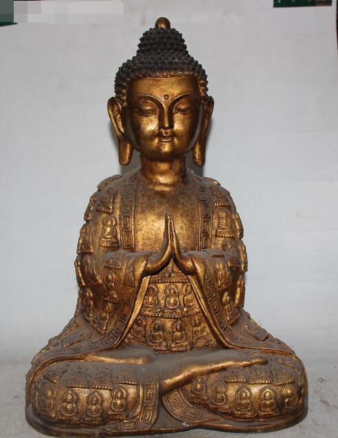 17 Old Tibet Buddhism Bronze Seat Shakyamuni Sakyamuni Amitabha Buddha Statue17 Old Tibet Buddhism Bronze Seat Shakyamuni Sakyamuni Amitabha Buddha Statue