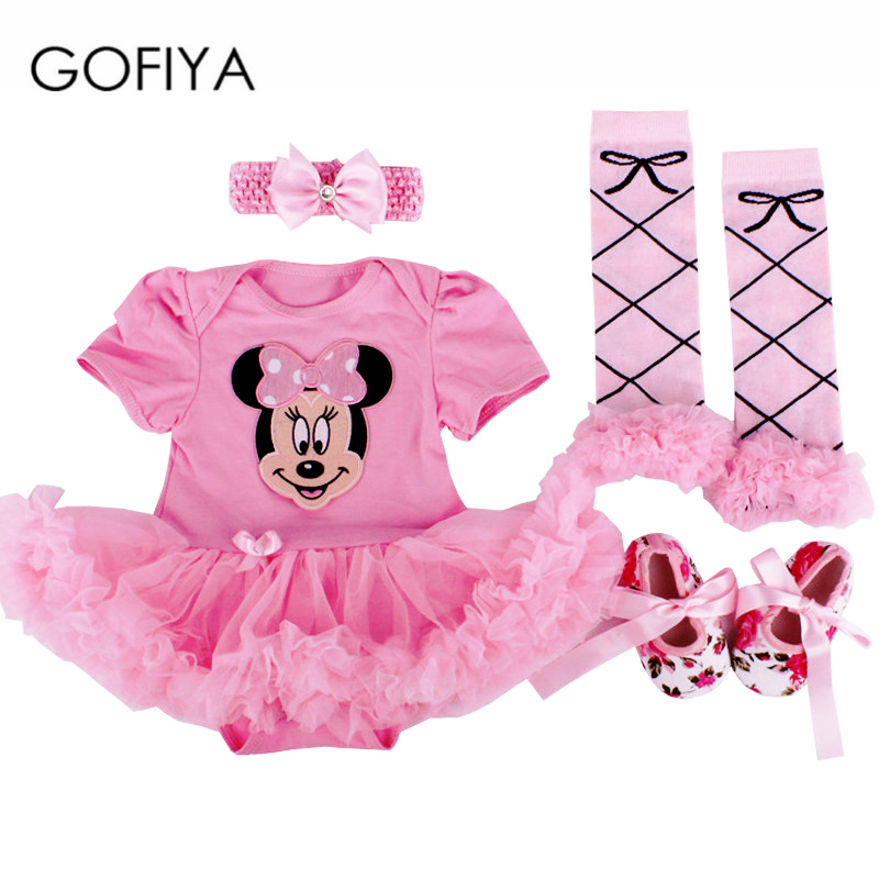 Newborn Baby Girl Clothes Christmas Baby 4Pcs Clothing sets Tutu Romper Roupas De Bebe Menina Infant 0-2T Newborn Baby Dress Set baby girl infant 3pcs clothing sets tutu romper dress jumpersuit one or two yrs old bebe party birthday suit costumes vestidos