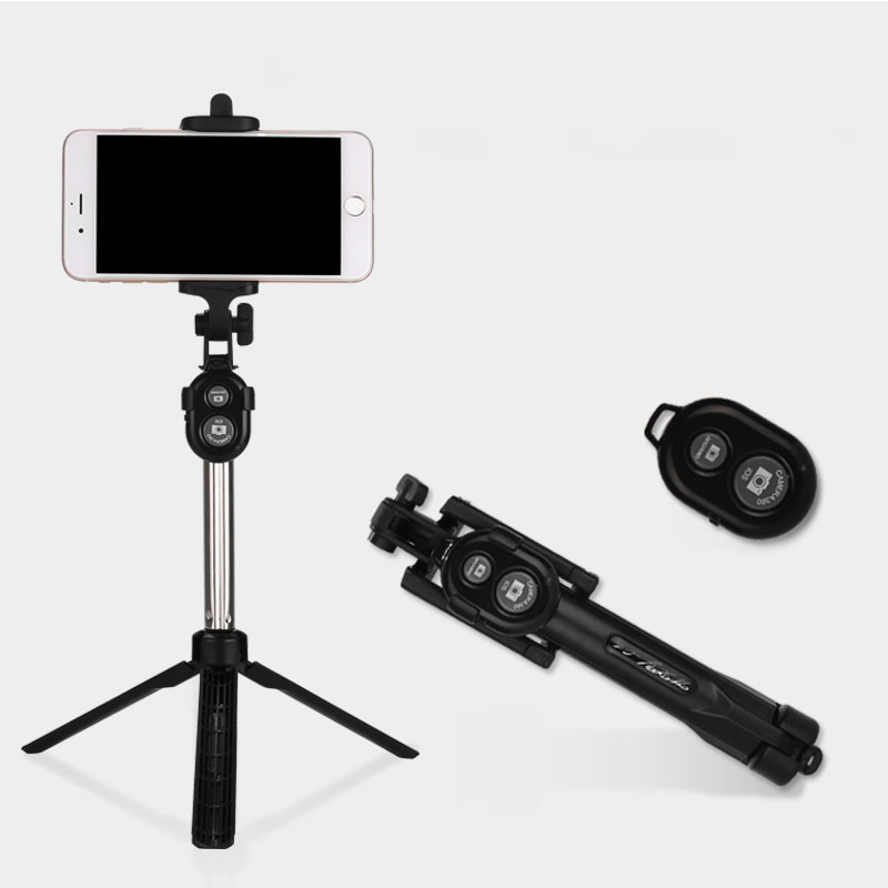 Universal Foldable Selfie Stick Handheld Monopod Desk Tripod Bluetooth Shutter Remote Controller for iPhone Android Smartphone