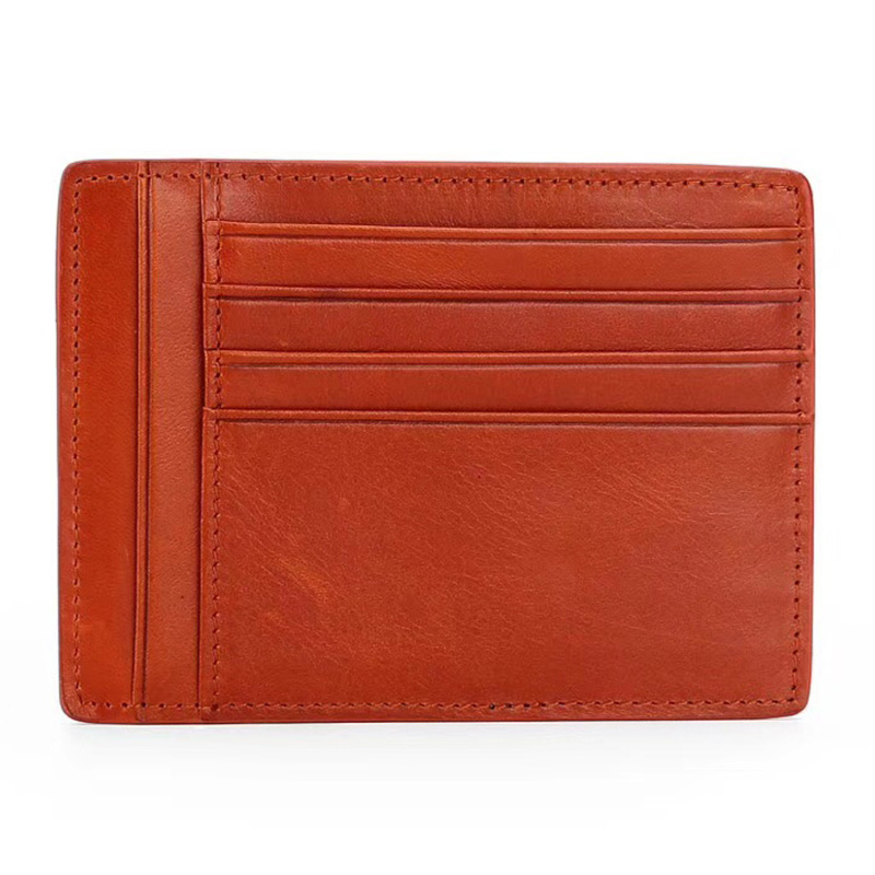 New Arrivals Ultra Thin Card Case Top Quality Cowhide Leather Credit Holders Unisex Wallet Factory Price