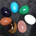 1 Pcs grande 50*35mm vários undrilled jade egg para kegel os músculos do assoalho pélvico vaginal exercício chakra massagem yoni ben wa bola