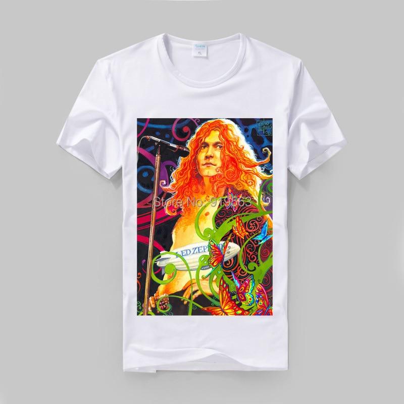 Led Zeppelin Jimmy page Robert Anlage posterdruck hochwertige modale baumwolle t vintage-mode