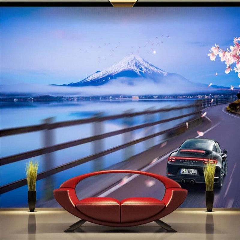 HD luxury sports car background wall professional production mural factory wholesale wallpaper mural poster photo wall