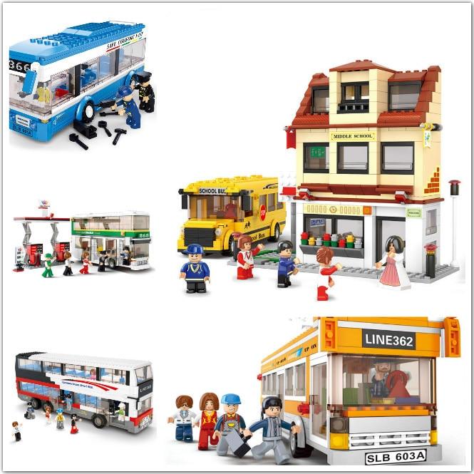 Sluban Blocos de Construção Compatível com Lego B0330-0335 Modelos de Kits de Construção de Blocos Brinquedos Hobbies Para Chlidren
