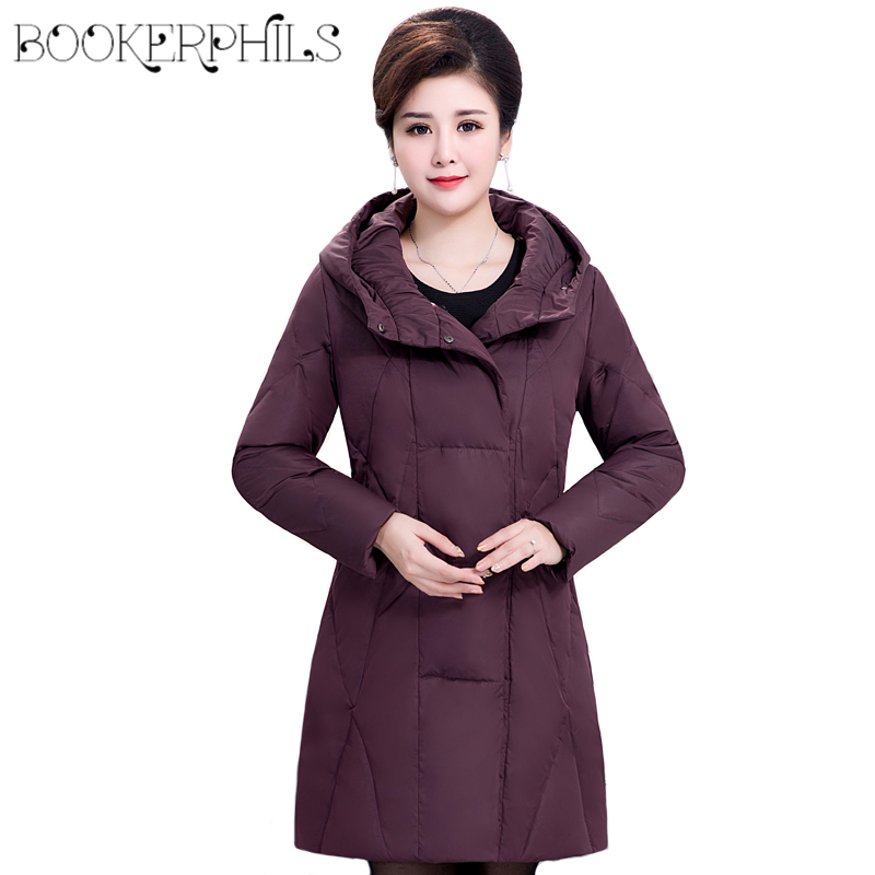 2017 Plus Size Women Winter Down Jacket Warm Thick Long White Duck Down Outerwear Hooded Plus Size Female Coat Autumn Overcoat new 2016 autumn winter fashion faux fur collar hooded long down jacket women white duck down coat outerwear plus size m 5xl