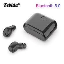 Kebidu tws fones de ouvido sem fio bluetooth 5.0 mini tws à prova dtwágua headfrees com 400mah power bank para xiaomi iphone
