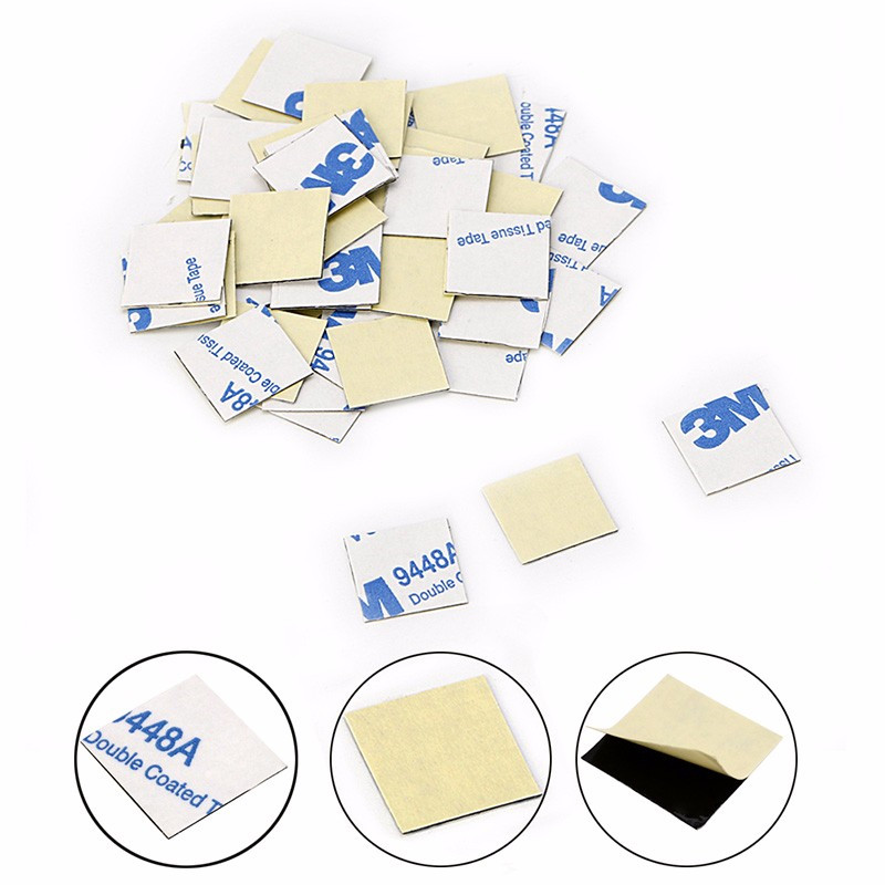 50Pcs/Set 14*14mm Sticker Thermal Double Side Adhesive Tape Heatsink for CPU Screen 20pcs lot aluminum heatsink 14 14 6mm electronic chip radiator cooler w thermal double sided adhesive tape for ic 3d printer