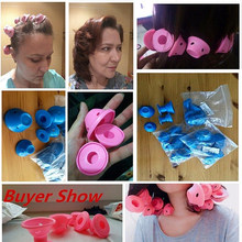 10 Pcs Reusable Silicone Hair Curlers Rollers for Hair Style Tools Easy To Use Hair Curler Roll Magic Curling Tool Salon Beauty(China)