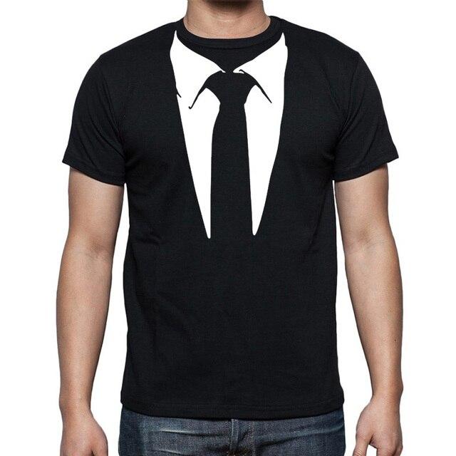 396427fc75a0ec 2019 nowy nowość mężczyźni koszulki z krótkim rękawem smokingu koszulki  Retro krawat śmieszne koszulki mężczyźni O