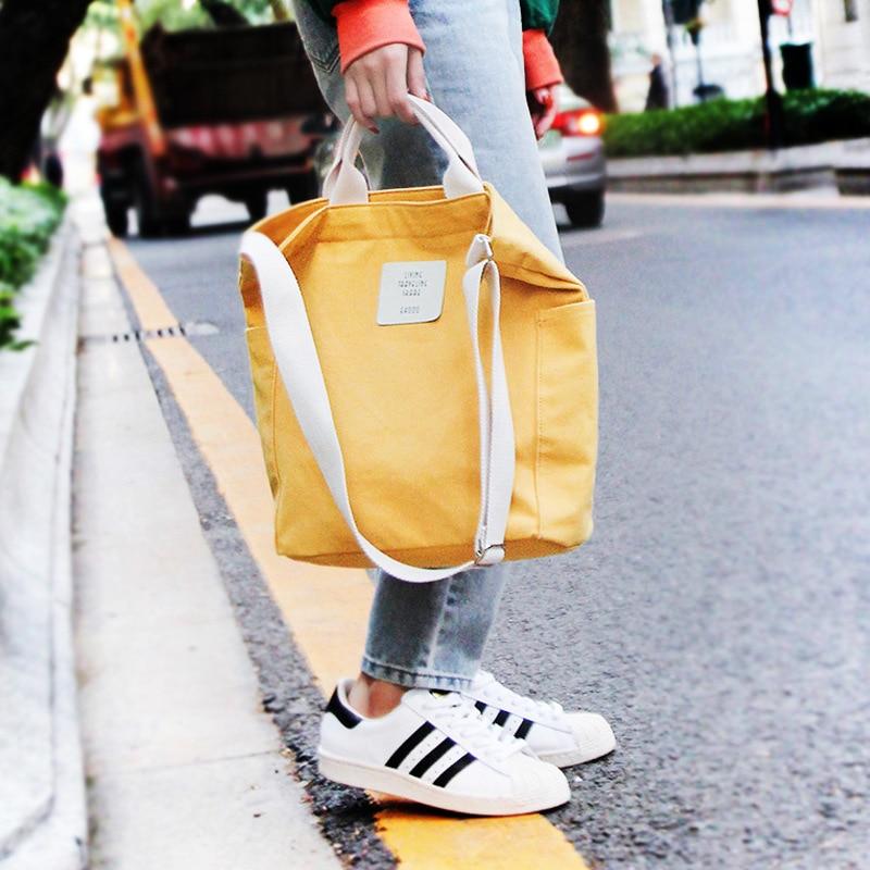 Diaper Bags Canvas Bag Solid Shoulder Bags Environmental Shopping Tote Package Crossbody Casual Zipper Purses Mummy Handbag