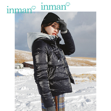 INMAN Winter New Arrival Female Hooded Short Section Loose Casual Down Coat