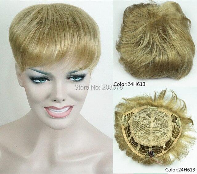 Парики Парик Женщин Синтетические волосы короткие Toupe Прекрасный Волос мужской toupe много цветов бесплатная доставка