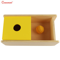 Children Wooden Senses Concentration Exercises Toys Montessori Box With Knitted Ball Educational Preschool Games Toy LT035 30