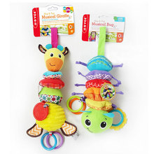 Plush Giraffe Animal Developmental Interactive Toy Infant Baby Development Soft Giraffe Animal Hand bell Rattles