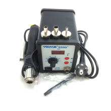 858D+ ESD Soldering Station Hot air rework station LED Digital Hot Air Gun 220V 700W + 3 Nozzle better than AT858D saike 8586D freeshipping digital lead free soldering station yihua 858d rework station